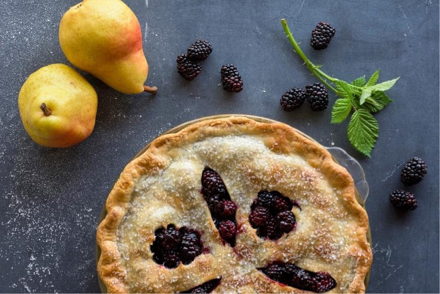 Blackberry Marionberry Boysenberry Pear Pie
