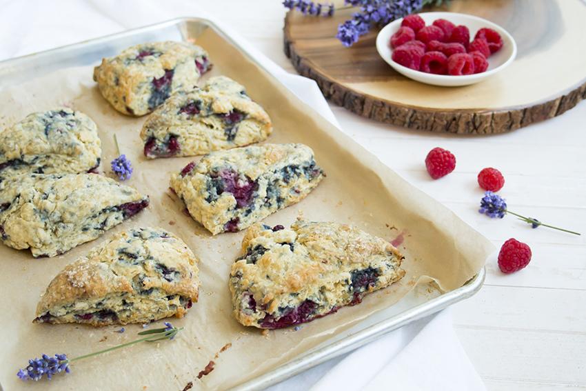 raspberry lavender scones