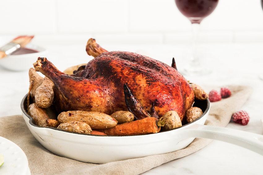 oregon berries raspberry chipotle roast chicken