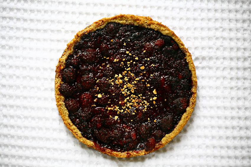 oregon berries create enjoy hazelnut crust frozen blackberry tart grain free gluten free paleo